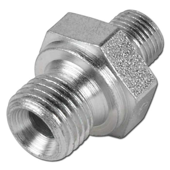 Double nipple galvanized steel m quot to