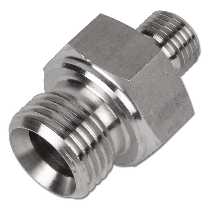 Double nipple with inch thread º universal sealing cone