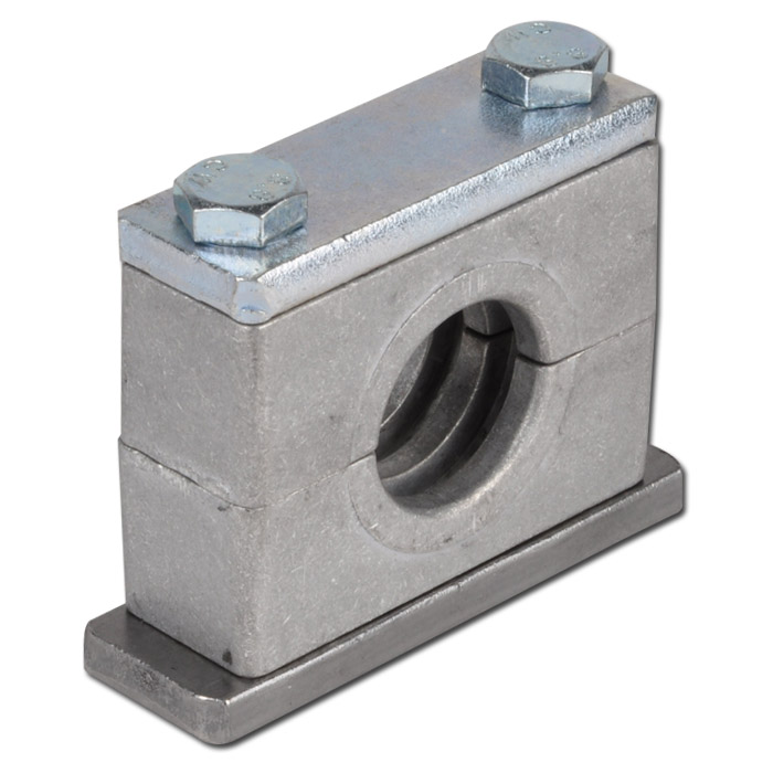 Aluminium pipe clamps heavy series with welding cover plates
