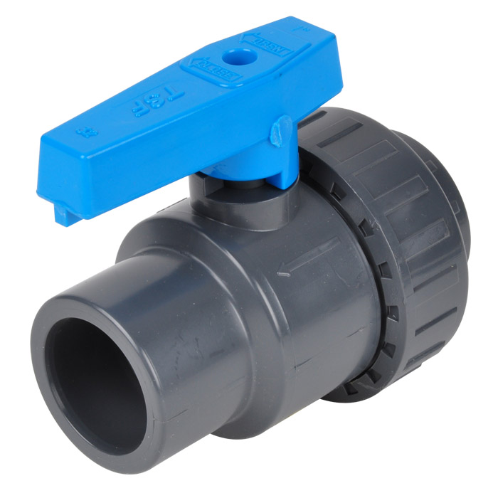 Pvc Water Valve : Single ring solvent socket ball valve pvc u water outage