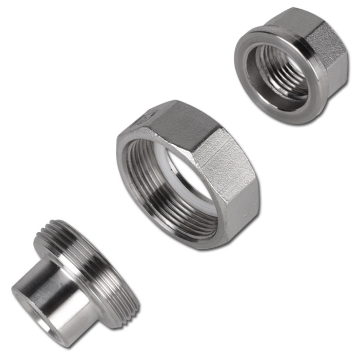 Weld on fittings with female thread flat sealing